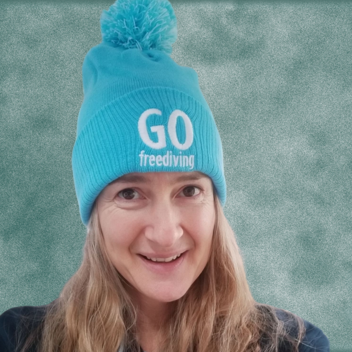 Go Freediving Beanie - Surf Blue 1