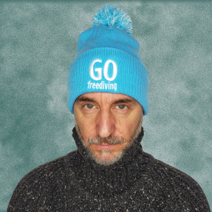 Go Freediving Beanie - Surf Blue 2
