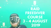 Freediving in a quarry RAID Aug3 2019