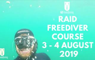 Freediving in a quarry RAID Aug3 2019