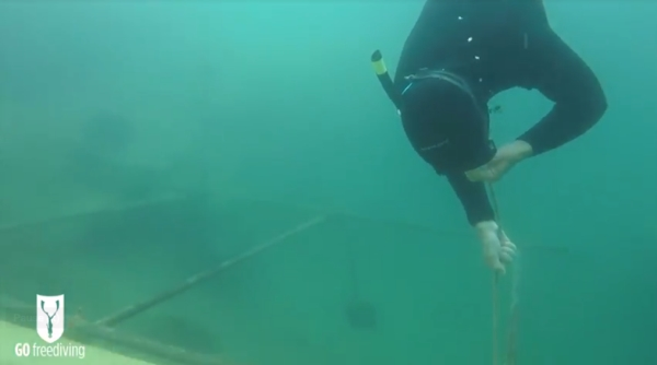 freediving in a quarry - go freediving - vobster12