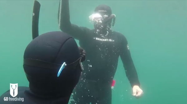 freediving in a quarry - go freediving - vobster2