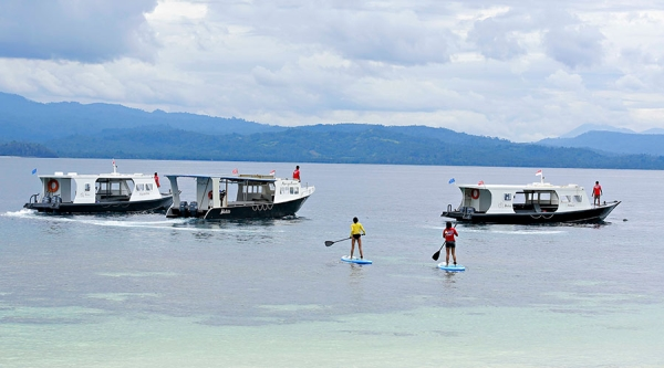 go freediving - freediving in indonesia - murex bangka resort sup