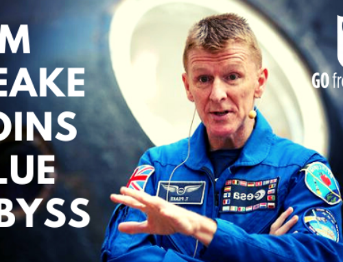British Astronaut Tim Peake Joins Blue Abyss!