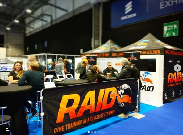 go diving show - RAID