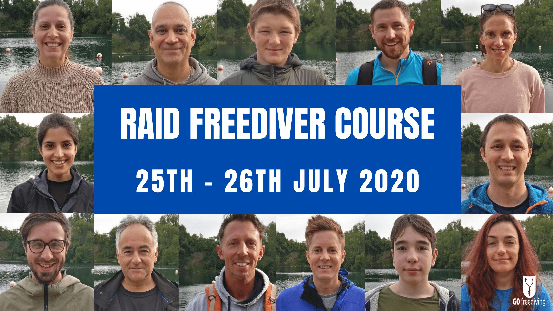 RAID Freediver Course 25 26 july