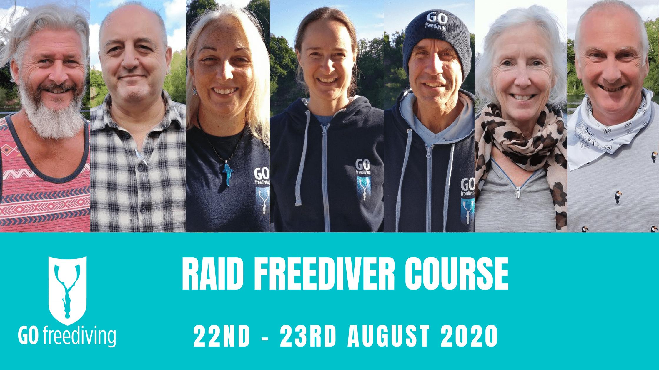 RAID Freediver Course 22 August 2020