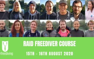 RAID Freediver Course 15 August 2020