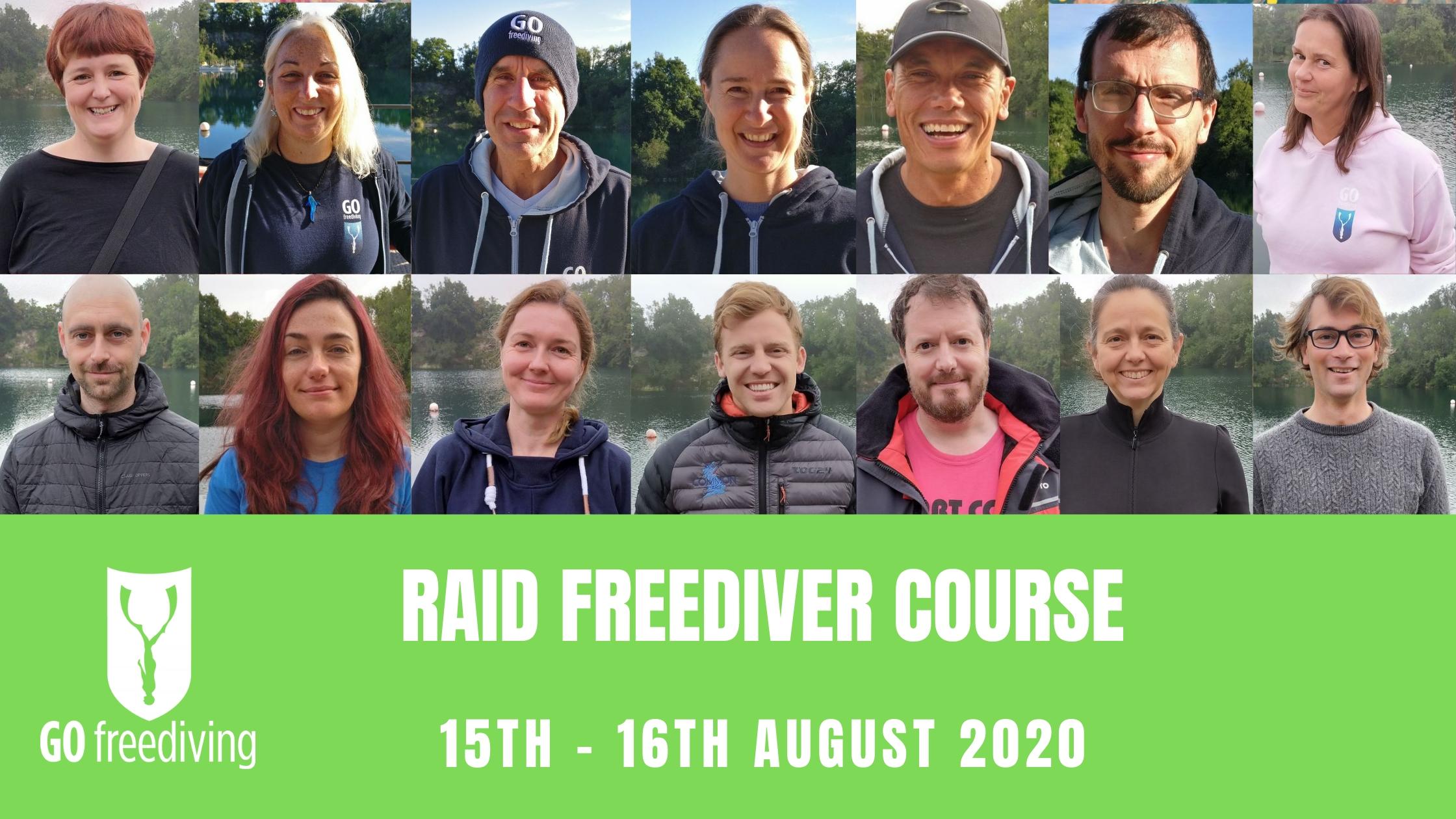 RAID Freediver Course 15 August 2020
