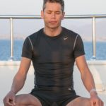 David Mellor doing yoga on the Go Freediving Liveaboard holiday